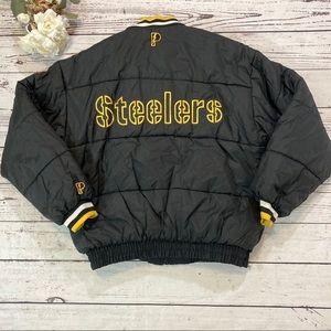 NFL vintage Pro Player Steeler reversible jacket